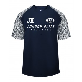 London Blitz - Coaches Printed Text Logo Blend Performance T Shirt