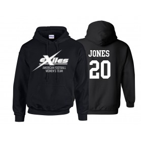 Kent Exiles - Women's Logo Unisex Hoodie with Name & Number