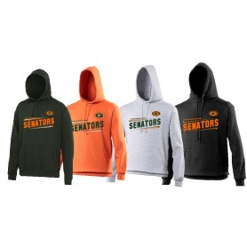 Gateshead Senators - Slanted Text Logo Hoodie