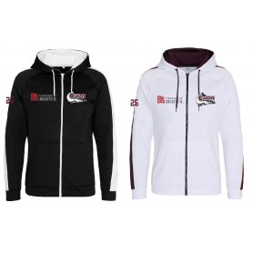 Bristol Barracuda - Embroidered Sports Performance Zip Hoodie