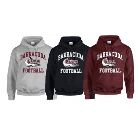 Bristol Barracuda - Football Logo Hoodie