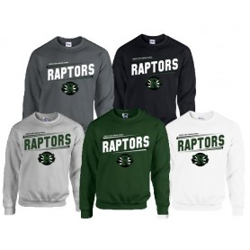 Jurassic Coast Raptors - Slanted Text Logo Sweat Shirt