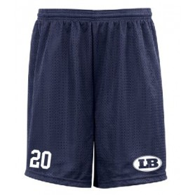 London Blitz - Custom Embroidered LB Logo Mesh Shorts