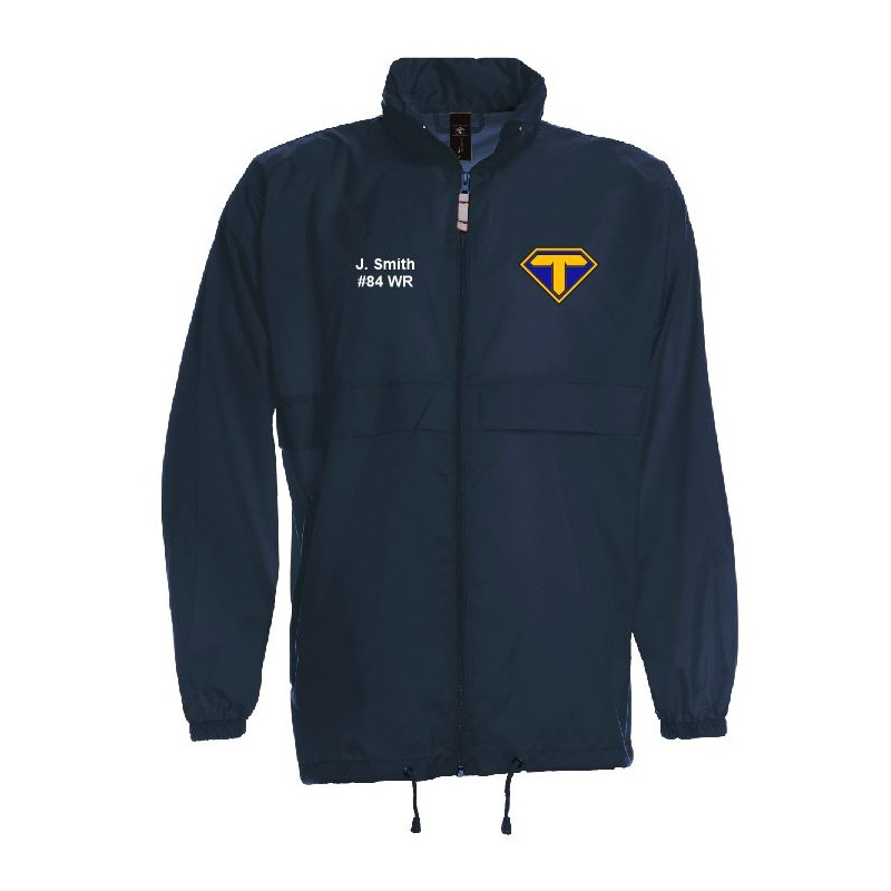 reputable site 77f1c 16f5c Teesside Steelers - Lightweight College Rain Jacket