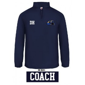 Heriot-Watt Wolverines - Coaches Printed & Embroidered 1/4 Zip Poly Fleece Pullover