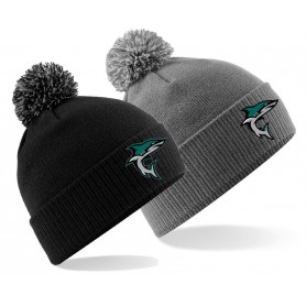 Chichester Sharks - Embroidered Bobble Hat