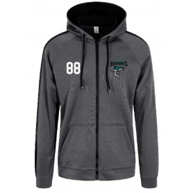 Chichester Sharks - Embroidered Sports Performance Zip Hoodie