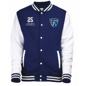 Northants Titans - Customised Embroidered Varsity Jacket