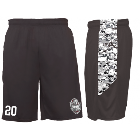 Northants Knights - Embroidered Pocketed Digital Panel Shorts