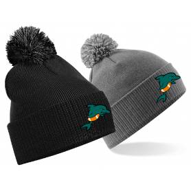 Poole Dolphins - Embroidered Bobble Hat
