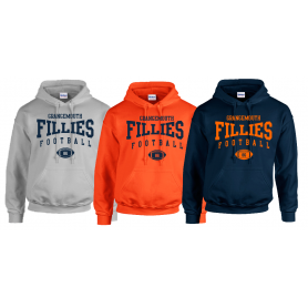 Grangemouth Fillies - Custom Ball 2 Logo Hoodie