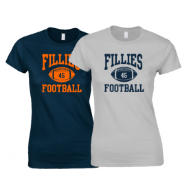 Grangemouth Fillies - Women's Fit Ball Logo T Shirt 1