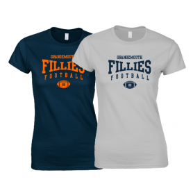 Grangemouth Fillies - Women's Fit Ball Logo T Shirt 2