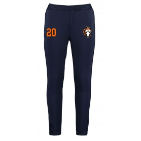 Grangemouth Fillies - Customised Embroidered Zipped Pocketed Slim Fit Track Bottoms