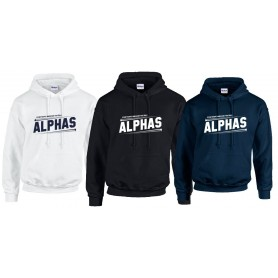 Scunthorpe Alphas - Slanted Text Logo Hoodie