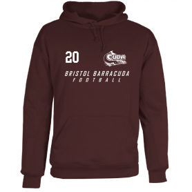 Bristol Barracuda - Custom Text Logo Poly Fleece Hoodie