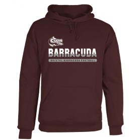 Bristol Barracuda - Split Text Logo Poly Fleece Hoodie
