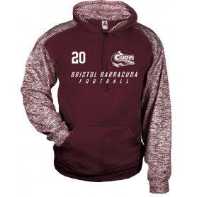 Bristol Barracuda - Custom Text Logo Sport Blend Hoodie
