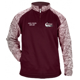 Bristol Barracuda - Embroidered Tonal Blend Sport 1/4 Zip