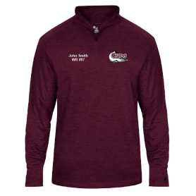 Bristol Barracuda - Custom Embroidered Tonal Blend Sport 1/4 Zip