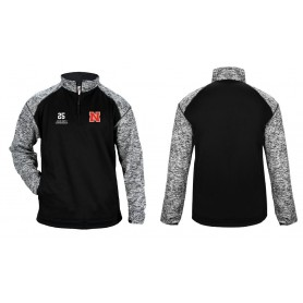 Northumbria Mustangs - Embroidered Tonal Blend Sport Quarter Zip