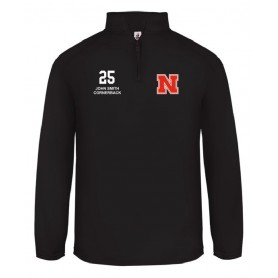 Northumbria Mustangs - Embroidered 1/4 Zip Poly Fleece Pullover
