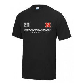 Northumbria Mustangs - Split Text Logo Performance T Shirt
