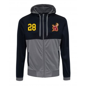Southampton Stags - Embroidered Retro Track Zip Hoodie