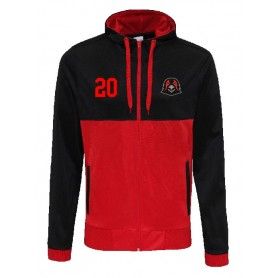 Humber Warhawks  - Embroidered Retro Track Zip Hoodie