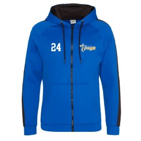 Manchester Titans - Embroidered Sports Performance Zip Hoodie