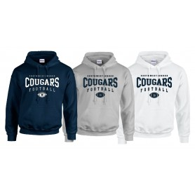 South West London Cougars - Custom Ball 2 Logo Youth Hoodie