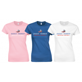 Sussex Thunder - Women's Fit Text Logo T Shirt