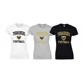 Solent Thrashers - Women's Fit Football Logo T-Shirt