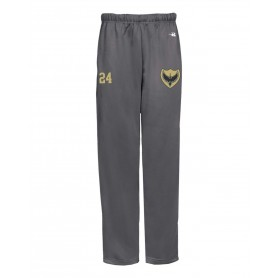 Solent Thrashers - Embroidered Badger Open Bottom Joggers