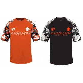 Glasgow Tigers - Custom Camo Paw Logo Performance T Shirt