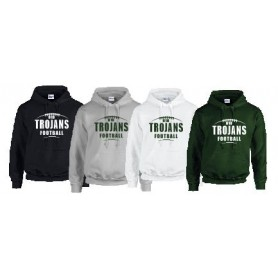 010 Trojans - Youth Laces Logo Hoodie