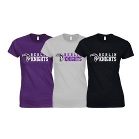 Berlin Knights - Women's Fit Stacked Text Logo T Shirt