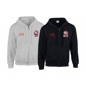 Kirkcaldy Bulls - Custom Embroidered Zip Hoodie
