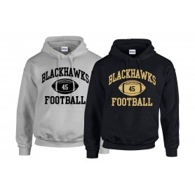 Clyde Valley Blackhawks - Custom Ball Logo Hoodie 1
