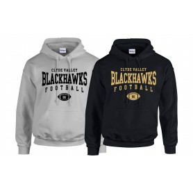 Clyde Valley Blackhawks - Custom Ball Logo Hoodie 2