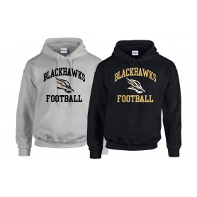 Clyde Valley Blackhawks - Football Logo Hoodie