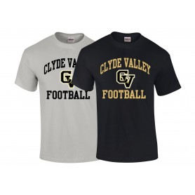 Clyde Valley Blackhawks - CV Football Logo T-Shirt