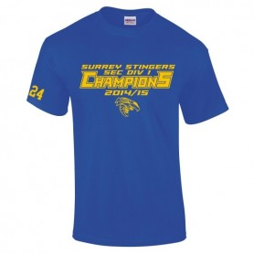 Surrey Stingers - 2015 SEC Div 1 Champs T-Shirt 1