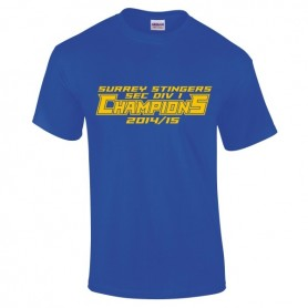Surrey Stingers - 2015 SEC Div 1 Champs T-Shirt 2