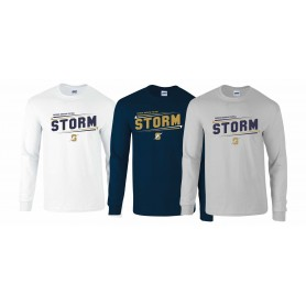 Swindon Storm - Slanted Text Long Sleeve T Shirt