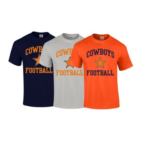 Craigavon Cowboys - Cowboys Football Logo T-Shirt