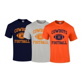 Craigavon Cowboys - Custom Ball Logo T-Shirt 1