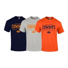 Craigavon Cowboys - Custom Ball Logo T-Shirt 2