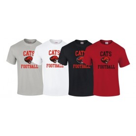 Cambridge Cats - Football Logo T-Shirt