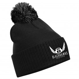 Bedford Blackhawks - Embroidered Bobble Hat